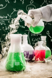 Testing new chemical reactions in university lab